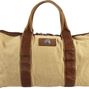 Canyon Outback Auburn Tigers 21-inch Canvas and Leather Duffel Bag
