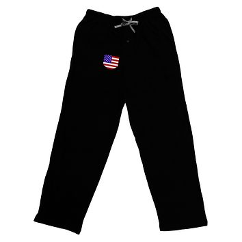 American Flag Faux Pocket Design Adult Lounge Pants by TooLoud