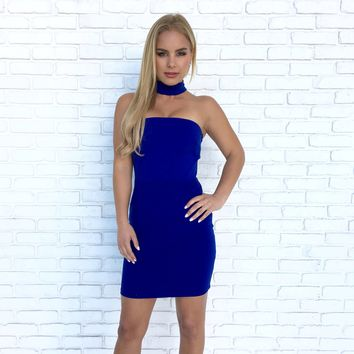 Making Music Bodycon Dress in Royal Blue