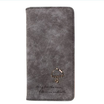 Sweet Umbrella Ladies Wallet Long Purse 12 Cards Holder Protector 7 Colors Fashion New Wallets Purses  SN9