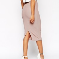 ASOS Midi Pencil Skirt in Heavy Rib