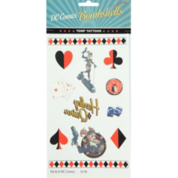 DC Comics Bombshells Harley Quinn Temporary Tattoos