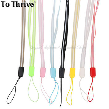 44CM*6MM PVC Mobile Phone Strap Universal Colorful Credentials Cell Phone Lanyard 8 Color