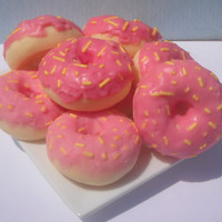 4 Donut Candle Tart Melts Pink Lemonade Scented Soy Wax