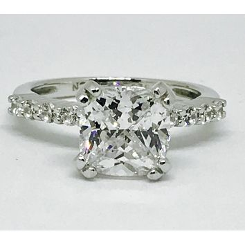 A Perfect 2.1CT Cushion Cut Solitaire Russian Lab Diamond Engage 3f03fdecc
