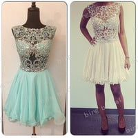 CFlamboyant harming dress sexy Rhinestone Glamorous  sleeveless, Bridesmaid Dress Evening Dress Prom Dress 2014