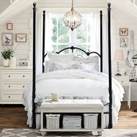 Amanda Iron Scroll Canopy Bed