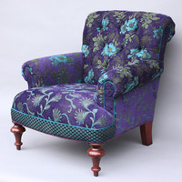 Middlebury Chair in Plum by Mary Lynn O'Shea (Upholstered Chair) | Artful Home