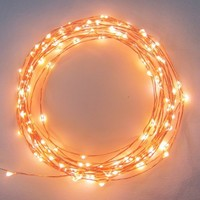 The Original Starry String Lights™ by Brightech - Warm White LEDs on a Flexible Copper Wire - 20ft LED String Light with 120 Individually Mounted LED's