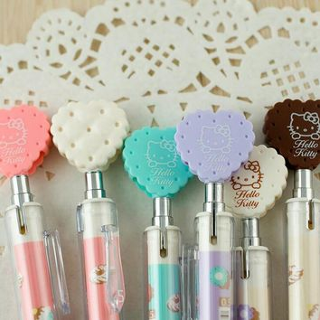 4X Fresh Sweet Heart Cap Cookies Automatic Mechanical Pencil School Office Supply Student Stationery Writing Drawing Press 0.7mm