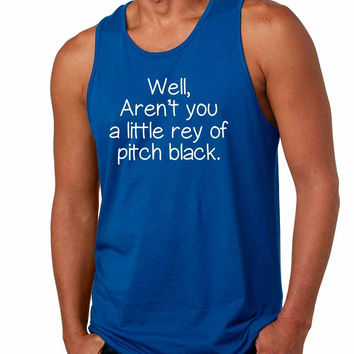 Men's Tank Top Well Aren't You A Little Ray Of Pitch Black Funny Top