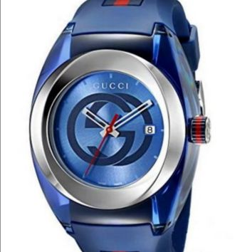 Gucci fashion exquisite double G watch F-PS-XSDZBSH Blue
