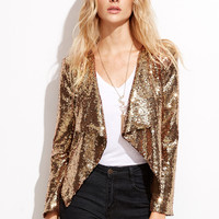 Gold Sequin Cocktail Jacket