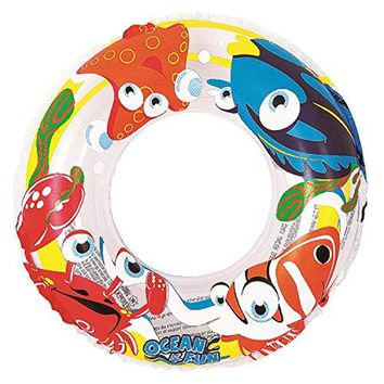By PoolCentral 20 inch  Clear Ocean Fun Children's Inflatable Swimming Pool Inner Tube Ring Float