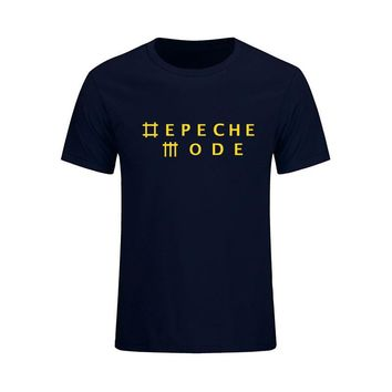 Depeche Mode Alternative Dance Music Band Mens T-shirt Fashion 2017 New Summer O Neck Cotton T Shirt Tops Camisetas Masculina
