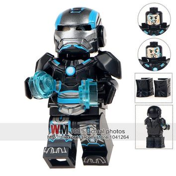 Single Sale MG0003 Custom Armored Iron Man Suit War Machine Inspired Building Brick Super Heroes Christmas Toys For Children