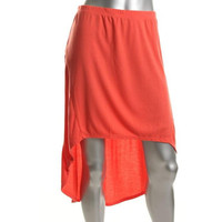 Volcom Womens Knit Asymmetric Tulip Skirt