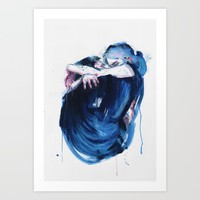the noise of the sea Art Print by agnes-cecile