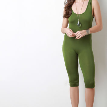 Scoop Back Shorts Jumpsuit
