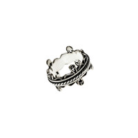 Bobbin Embroidered Sterling Silver Spinner Ring
