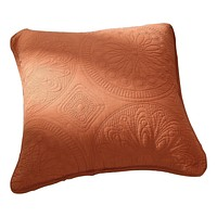 Tache Tuscany Sunrise 2 Piece Solid Orange Floral Cushion Throw Pillow Covers (JHW-595CC)