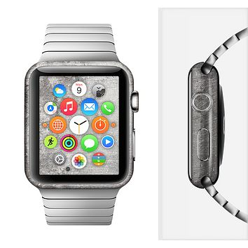 The Grunge Gray Surface Full-Body Skin Set for the Apple Watch