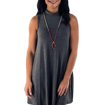 Make Your Mock Dress- Charcoal | MACA Boutique