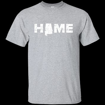 Alabama Home Light T Shirt with AL Pride and State Outline T-Shirt Gift Tee 1
