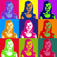 Personalized Pop Art in Warhol Style Custom Size Using Your Photo