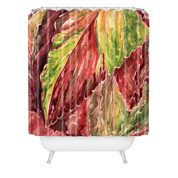 Rosie Brown Coleus Shower Curtain