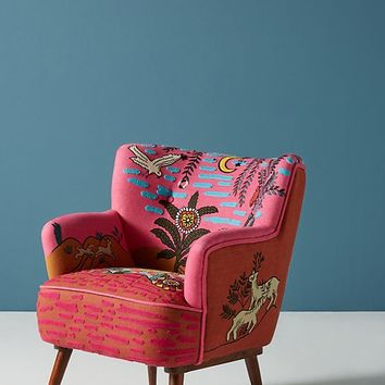 Imagined World Accent Chair