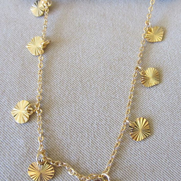Vintage Avon Gold Cascading Hearts Necklace & Earring Set