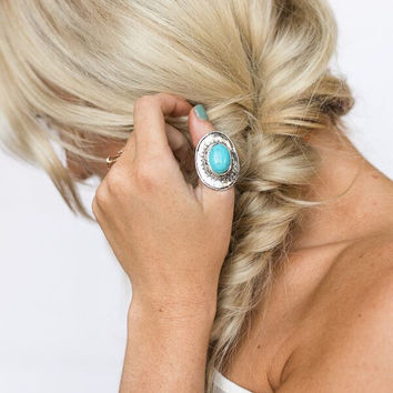 Wearing Turquoise & Silver Oversized Ring