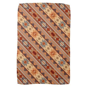 Southwestern Design Tan Kitchen Towels