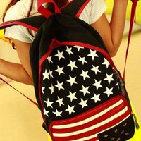 Rivet American Flag Canvas Backpack