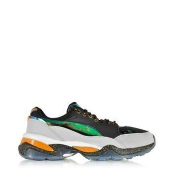 McQ Alexander McQueen x Puma Designer Shoes Multicolor Leather and Fabric Tech Runner