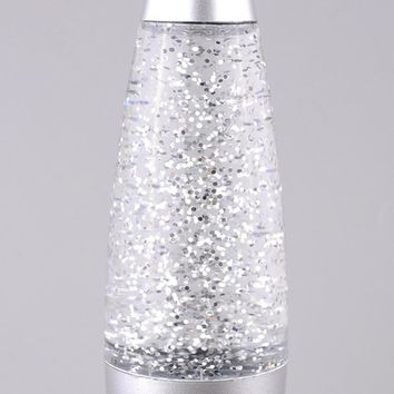 USB Glitter Rocket Night Light Lava Lamp