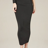 BLACK SILHOUETTE SKIRT