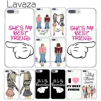 Lavaza Princess My Love Pair Best Friends Emoji Hard Shell Phone Case for Apple iPhone 7 7 Plus 6 6S Plus 5 5S SE 5C 4 4S Cover