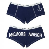 NAVY - Anchors Away - Military Clothing - Blue Booty Shorts