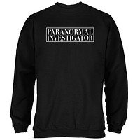 Halloween Paranormal Investigator Black Adult Sweatshirt