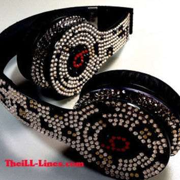 Custom Beats by Dre Headphones  Swarovski Elements  by TheILLlines