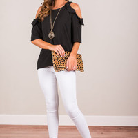 Love And Leave Top, Black