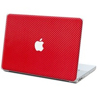 "Textured Carbon Fiber Red Skin  for the MacBook Pro - 13"" by skinzy.com"