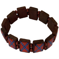 Rebel Flag Link Bracelet