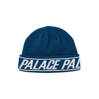 Palace Beanie Blue Cuffed Skully Hat