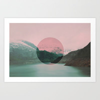 Circle the Mountain II Art Print by VLLD