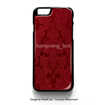 Red Damask Pattern for iPhone 4 4S 5 5S 5C 6 6 Plus , iPod Touch 4 5  , Samsung Galaxy S3 S4 S5 Note 3 Note 4 , and HTC One X M7 M8 Case Cover