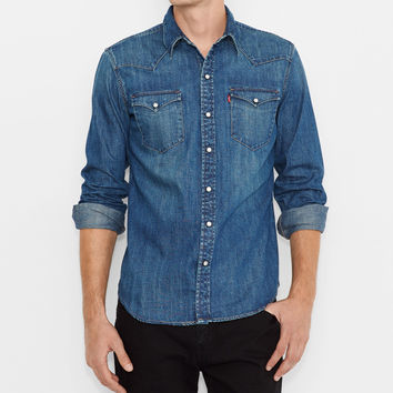 Barstow Western Shirt - Ink Patch Dark