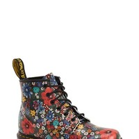 Women's Dr. Martens '101' Floral Print Leather Boot,